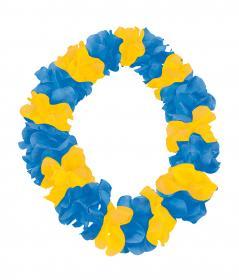 Hawaiikrans -Blå/gul
