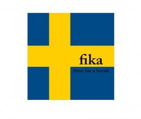 Servetter svenska flaggan -FIKA