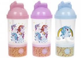 Unicorn-mugg med behållare för snacks