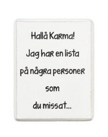 Kylskåpsmagnet -Karma!