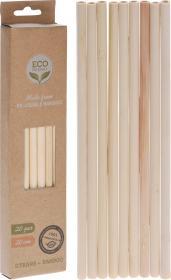Sugrör Bambu 20-pack