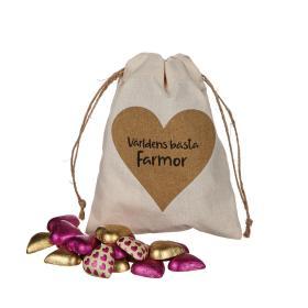 Säck med chokladhjärtan (Farmor)