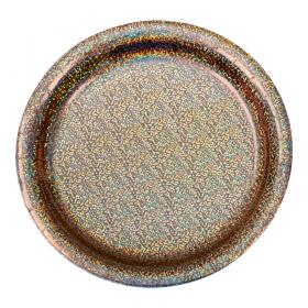 Assiett 8-p (holografisk roséguld)