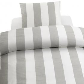 Bäddset -Block Stripe (grå)