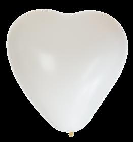 Hjärtformade ballonger 8-pack (Vita)