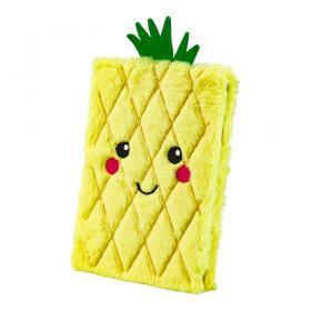 Fluffig anteckningsbok -Ananas