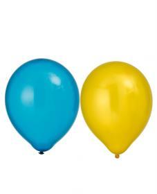 Metallicballonger i 8-pack (Gul/Blå)