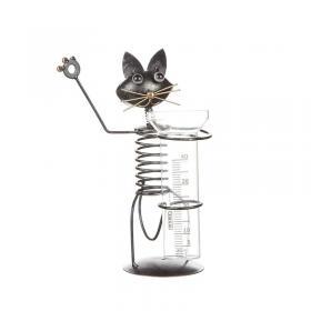 Regnmätare stående katt i plåt