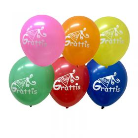 Ballonger 6-pack -Grattis