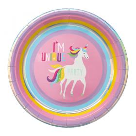 Papperstallrik i 8-pack -Unicorn