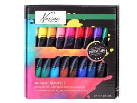 Akrylfärg i 18-pack