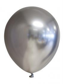 Spegelballonger i 6-pack (Silver)