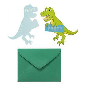 Inbjudningskort -Dinosaur