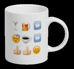 Emoji mugg -Hangover cure