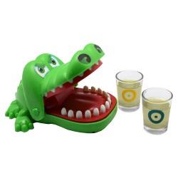 Dryckesspel -bitande krokodil